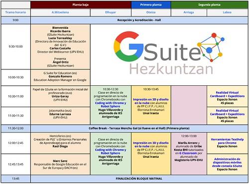 G-Suite Hezkuntzan 2017: VI Encuentro 2017 #GSuiteEducacion