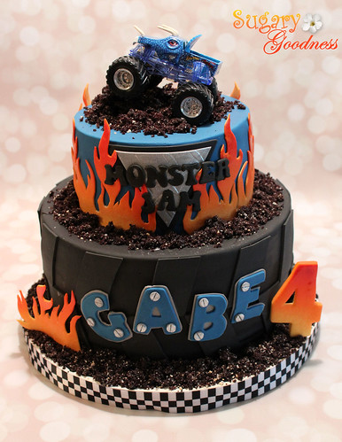 Monster Jam Cake Grandson Gabe S 4th Birthday Monster