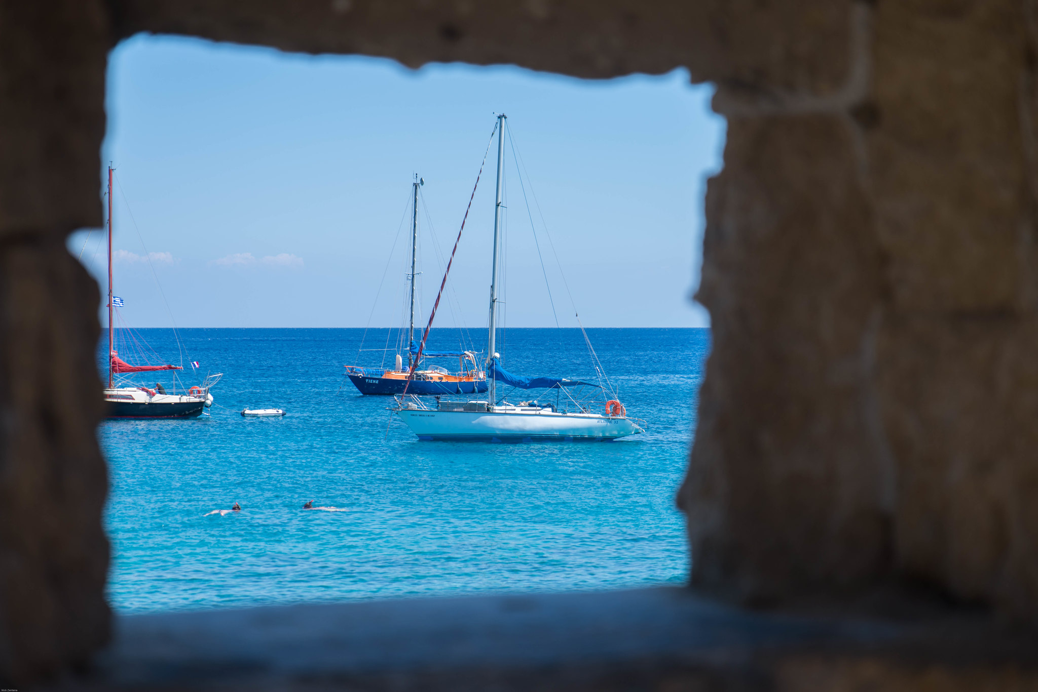 A view towards sea from Rhodes Greece