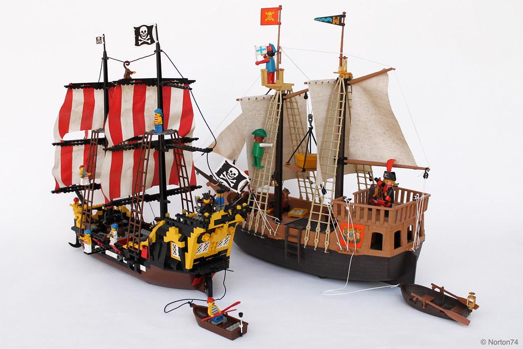 pirates playmobil vs lego by andrea lattanzio - Lego Pirate
