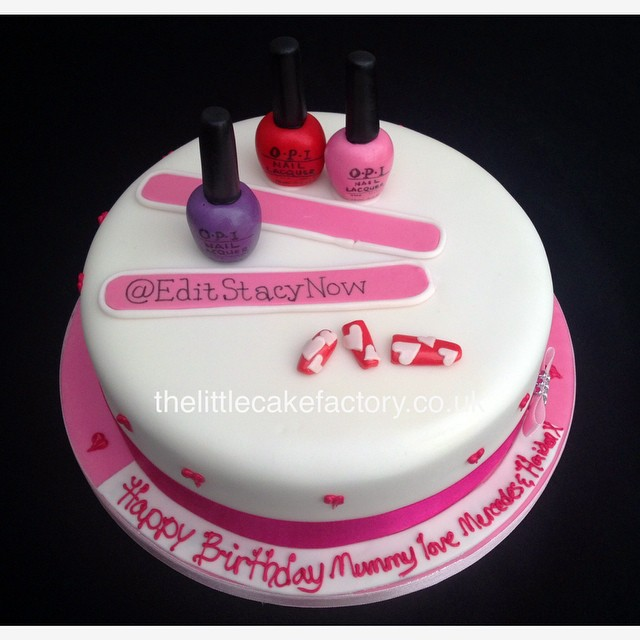 Nail Art Cake Nails Acrylic Opi File Tips Colour Cr Flickr