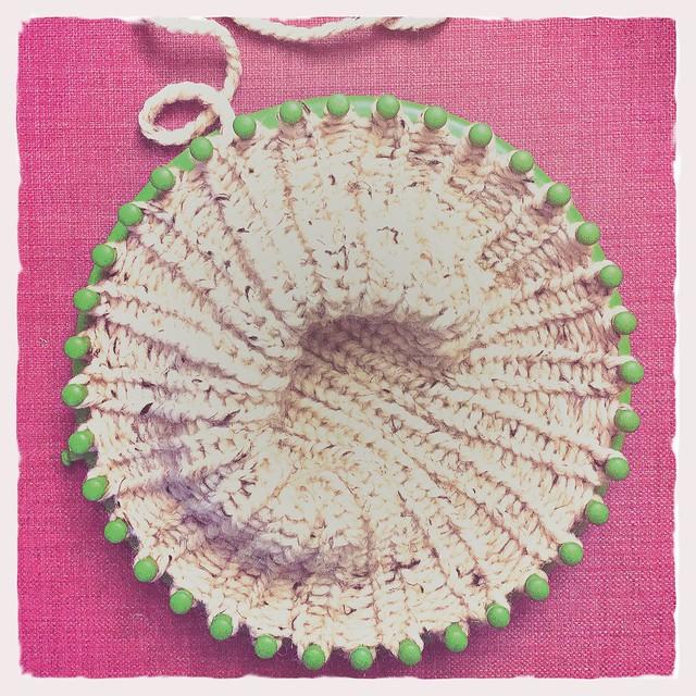 Loom Knit Hat WIP