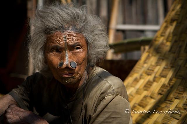 Tribal Apatani woman portrait