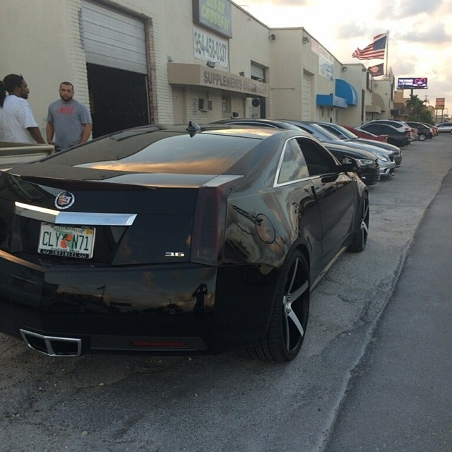 22 Inch Xo Miami Black Machine Wheels 2011 Cadillac Cts Co Flickr