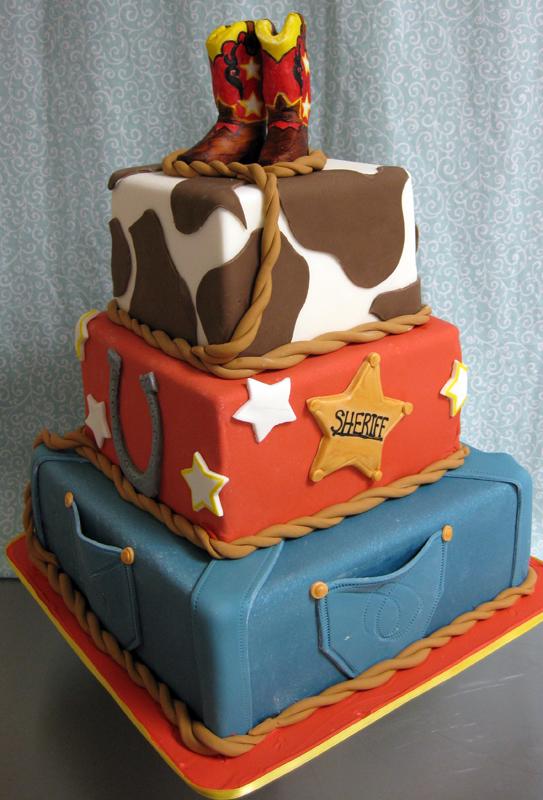 Cowboy Birthday Cake Kids Cowboy Boots Lasso Cow Hide Flickr