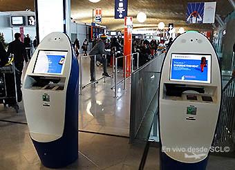 Air France kioscos de autocheck-in (RD)