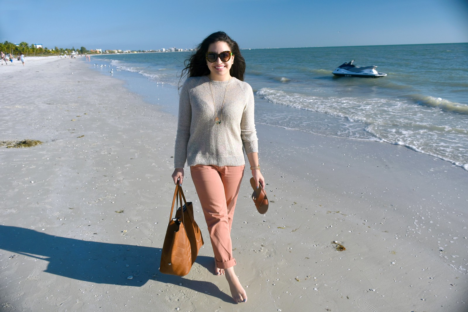 winter beach outfit