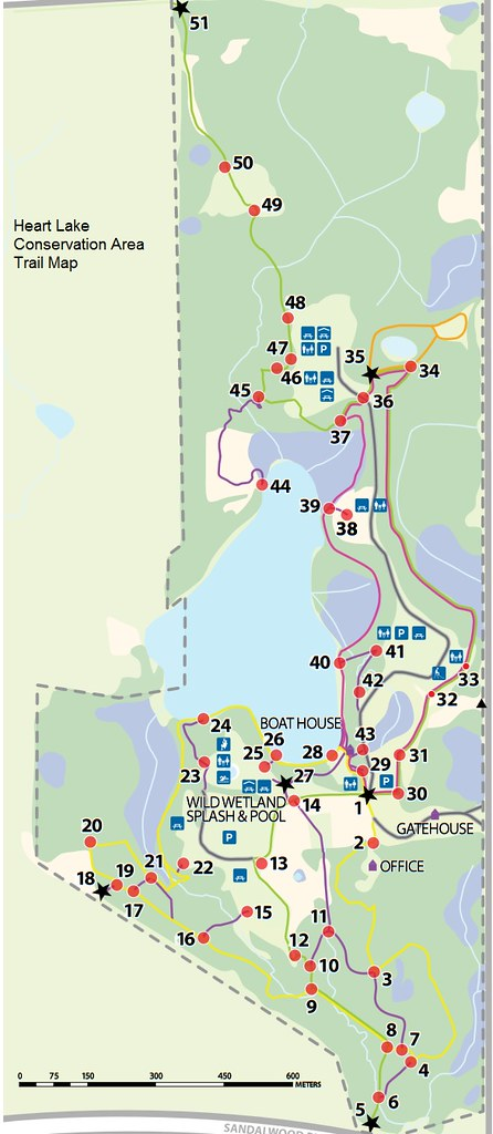 Heart Lake Trail Map