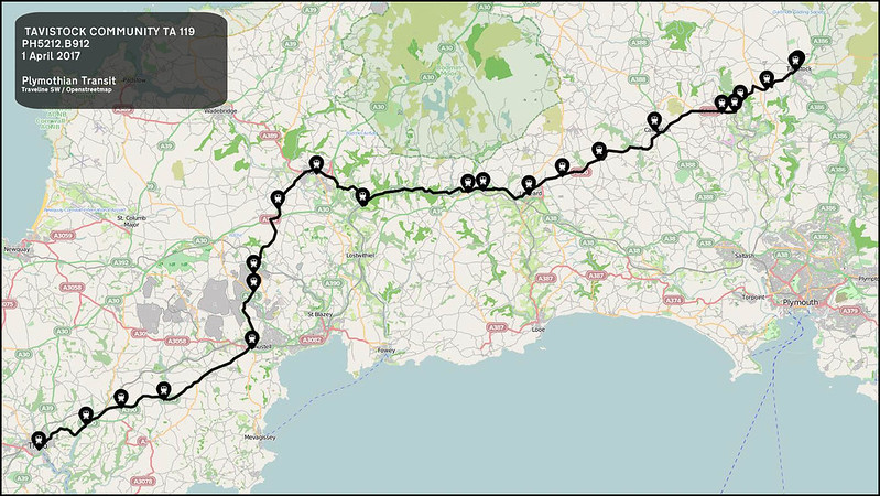 TAVISTOCK COMMUNITY TA route-119