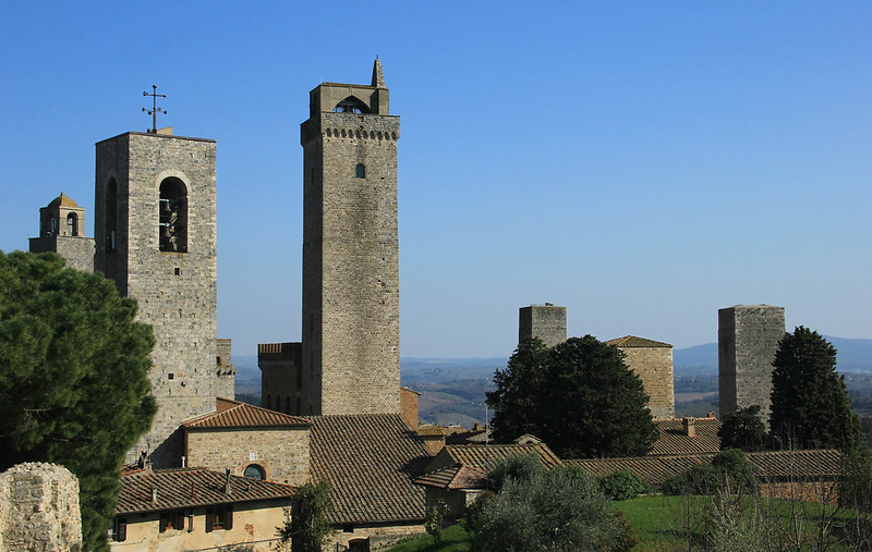 A few of San Gimignano's 14 towers