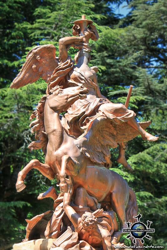 La Fama. Reales Jardines del Palacio Real de la Granja de San Ildefonso. Segovia, Castilla y León. España.