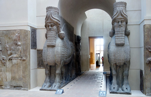 Lamassu from the citadel of Sargon II, Dur Sharrukin | by profzucker