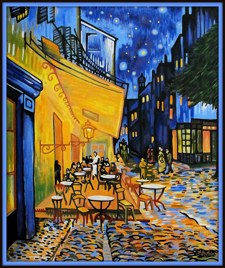 Kopie Des Gemaldes Terrasse Du Cafe Le Soir Nach Vincent Flickr