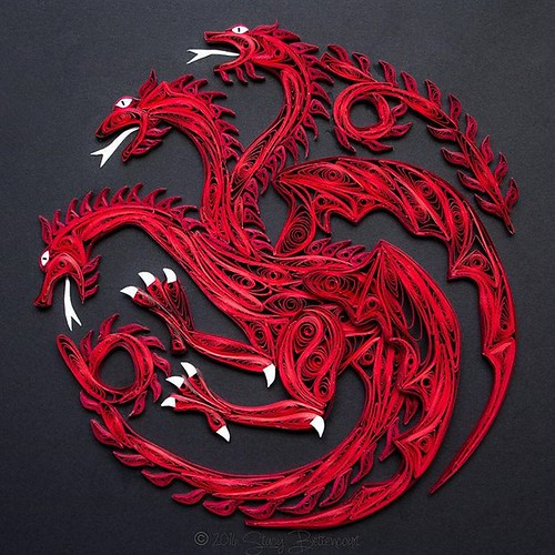 Quilled Targaryen Sigil by Mainely Quilling