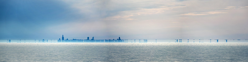 Superior Mirage on Lake Michigan
