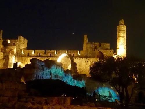 Lichtshow Tower of David
