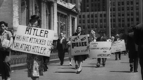 Democratic Socialists Anti-War Protest in NYC, 1941 Why Not Peace With Hitler