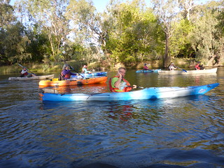 Dave Breedon - the canoe guy - at the helm | by Murray Valley Bushwalkers