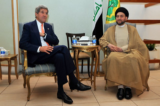 Secretary Kerry Sits With Islamic Supreme Council of Iraq Leader Hakim in Baghdad | by U.S. Department of State