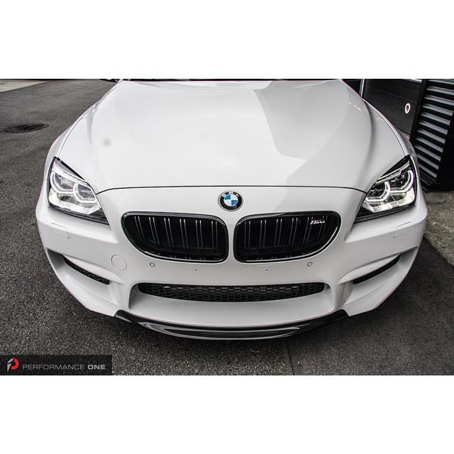 BMW F12 M6 with RKP carbon fiber front lip & BMW M Performance gloss black front grille set.  #BMW | #f12 | #M6 | #mpower | #bmwperformance | #bmwmperformance | #performanceone | @rkpcomposites | @indstyle