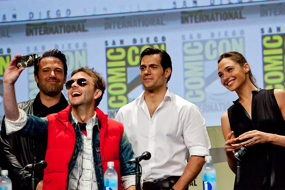 Chris Hardwick Selfie With Batman Vs Superman