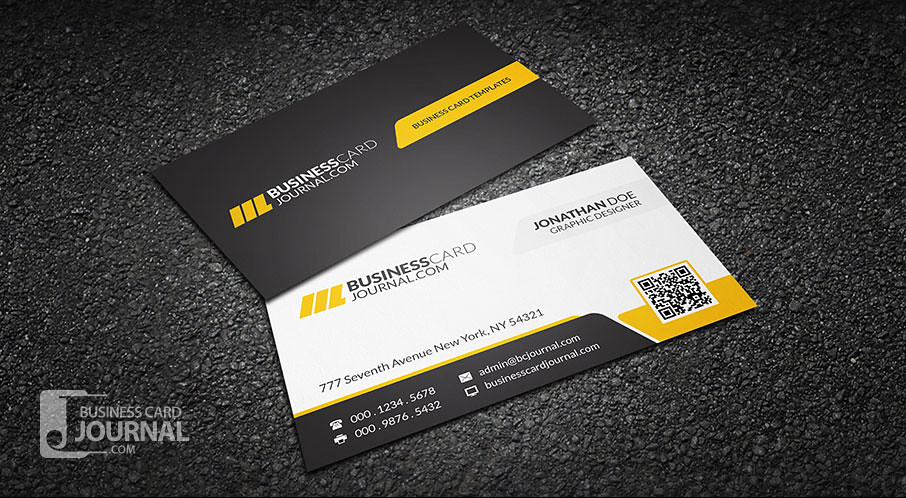 Corporate Professional QR Code Business Card Template Flickr - Photoshop cs6 business card template
