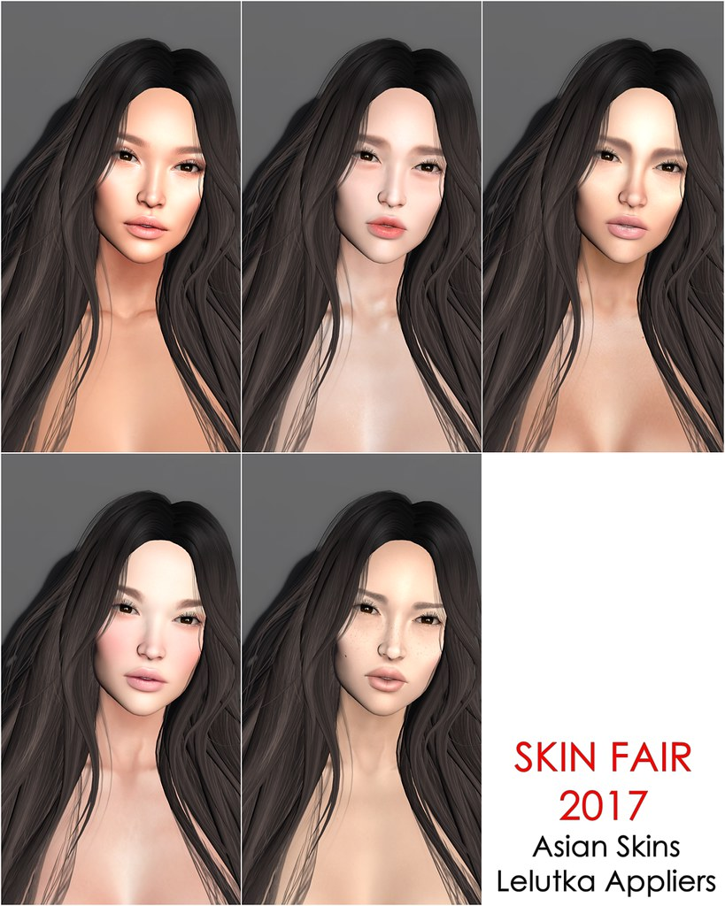 Asian Skins at Skin Fair 2017 (LeLutka Appliers)