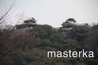松山城したから見てた