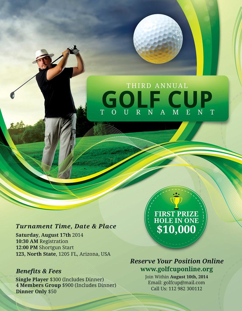 golf flyer template with registration form golf flyer temp flickr