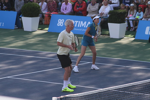 John McEnroe and Monica Seles | by tennis buzz