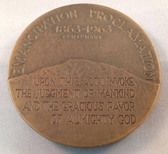 1963 Lincoln The Emancipator Medal reverse