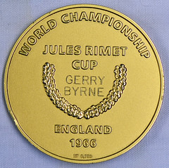 1966 World Cup Winners Gold Medal reverse