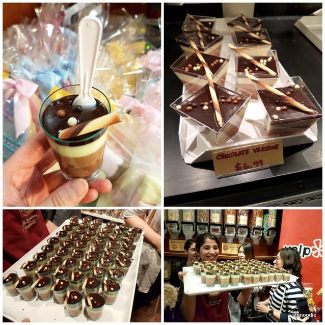 Chocolate Verrine samples