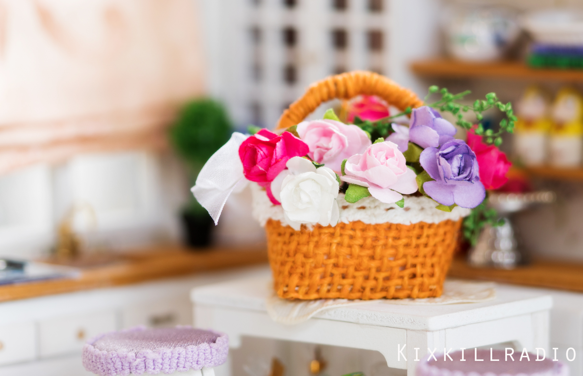 Watch how to make a miniature flower basket kixkillradio you can always improvise by using different paper flowers and ribbons mightylinksfo