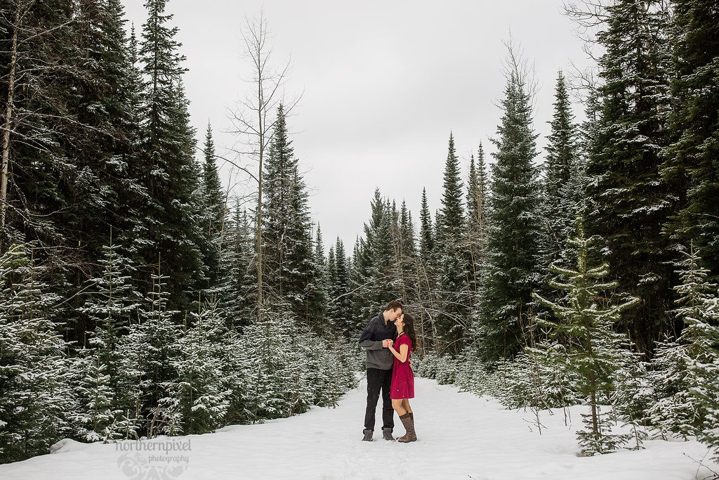Winter Engagement Session - Prince George British Columbia