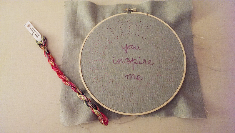 a little stitching in the works!