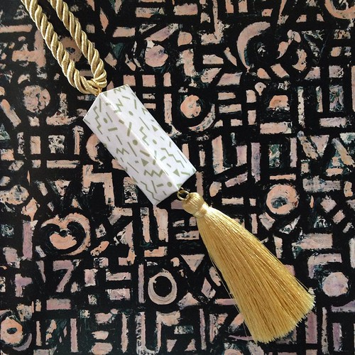 Tasseled Paper Pendant by Funky Fondled and Fresh
