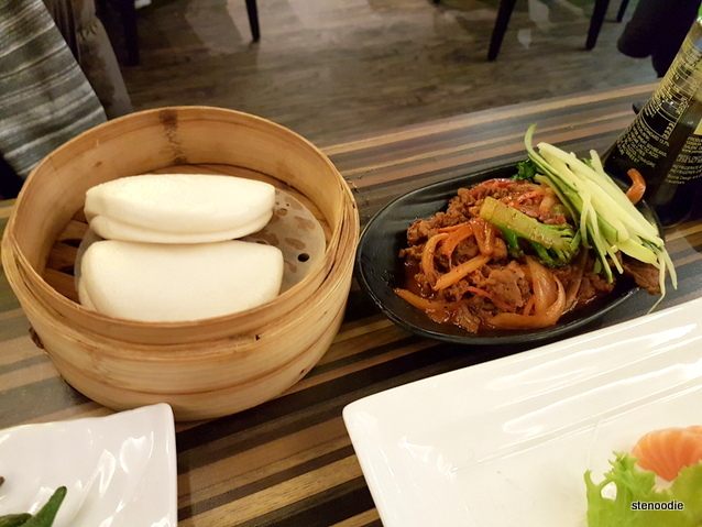 Korean Spicy Beef with Steamed Bao
