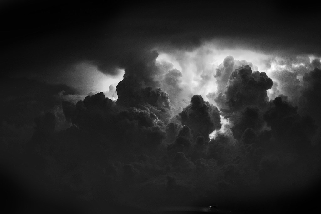 Clouds In A Lighting Storm