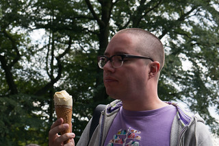 Chris, considering the HxB ice cream, Heights of Abraham | by topfife