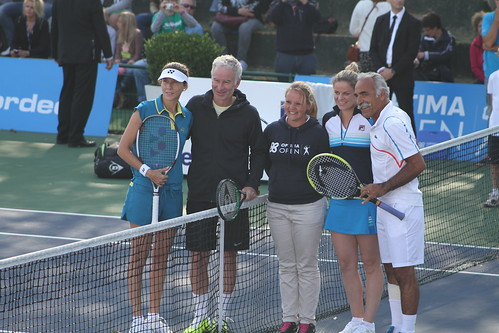 Monica Seles, John McEnroe, Kim Clijsters and Mansour Bahrami | by tennis buzz