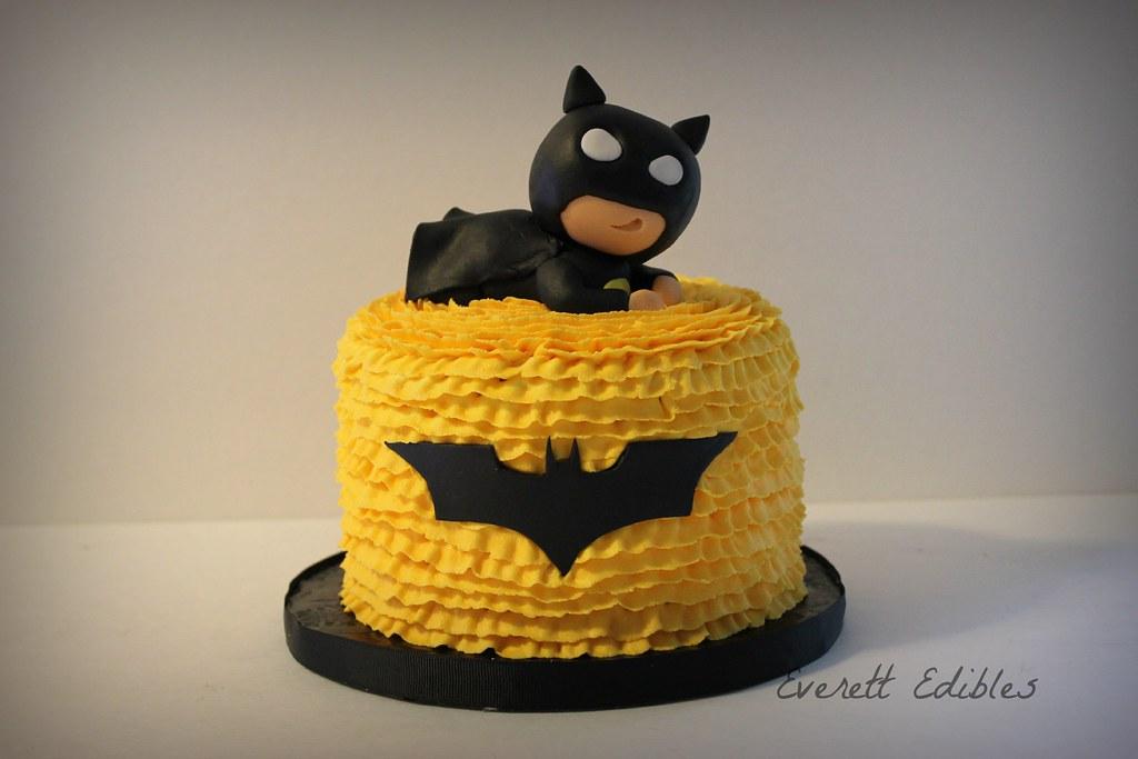 Baby Batman fondant cake topper decoration 6-2015 | Created … | Flickr