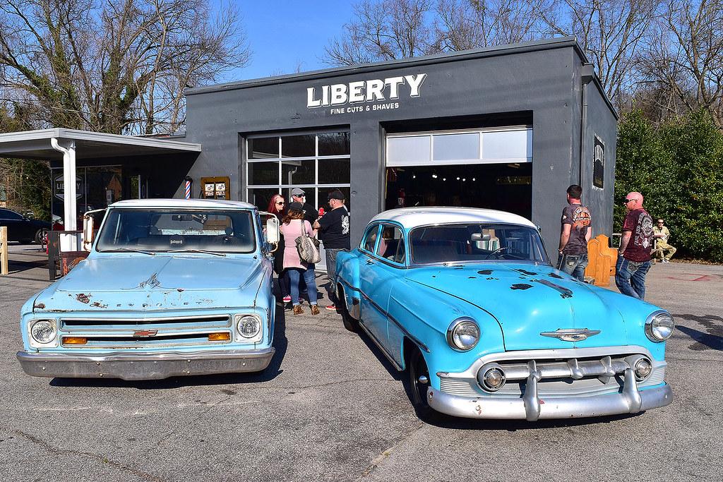 Liberty Car Show At The Liberty Fine Cuts Shaves Car Sho Flickr - Car show greenville sc