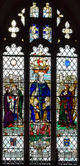 Joseph Russell Olerenshaw as St Nicholas flanked by Thomas Rattlesden greeting Henry VII and St Edmund of East Anglia (William Aikman, 1927)