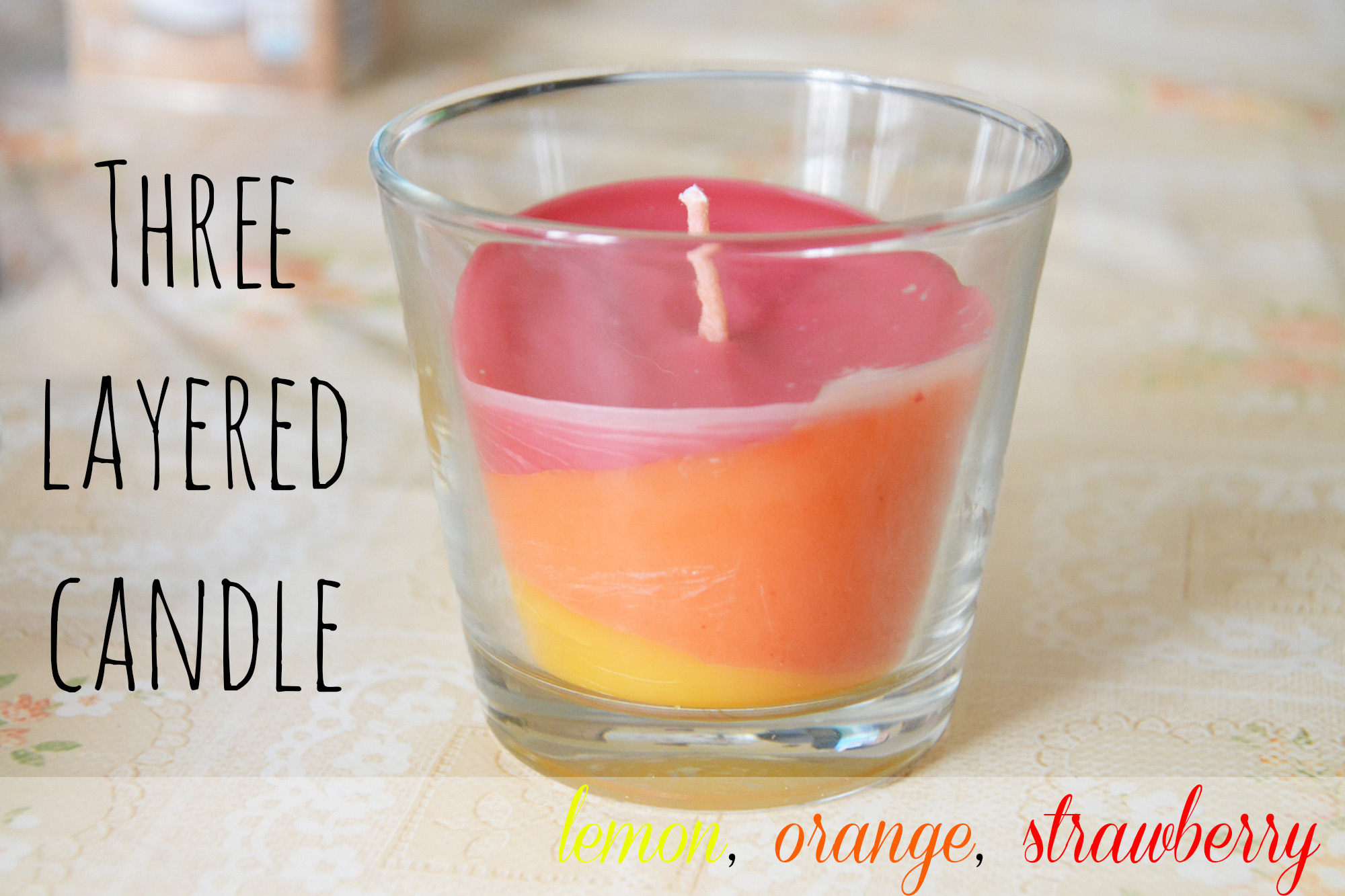 Three layered candle
