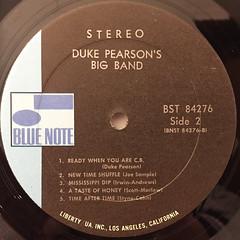 DUKE PEARSON:INTRODUCING DUKE PEARSON'S BIG BAND(LABEL SIDE-B)