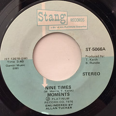 MOMENTS:NINE TIMES(LABEL SIDE-A)