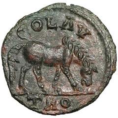 Roman Empire - Alexandria - Grazing Horse coin reverse