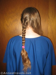 One half of two braids finished! 12 hiking hairstyles that are pretty & practical
