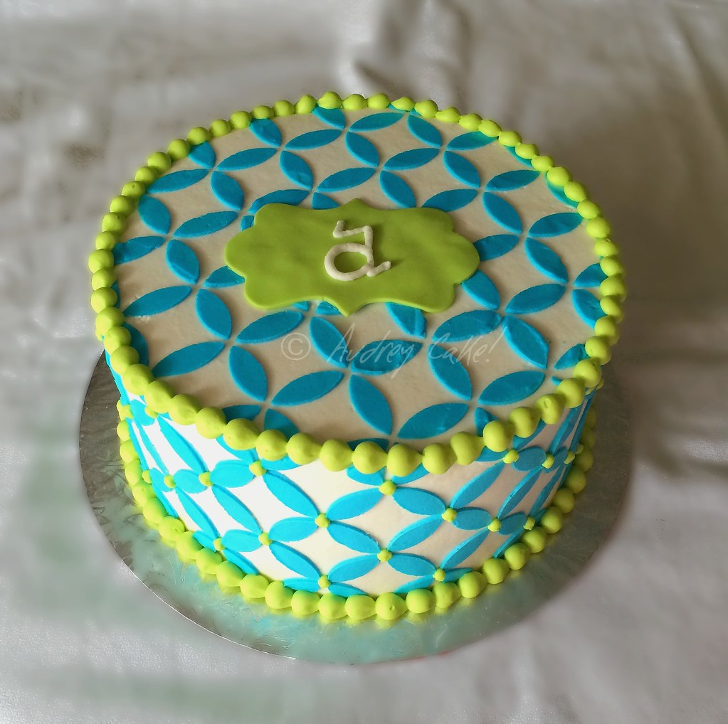 Geometric Monogram Birthday Cake D This All Buttercre Flickr